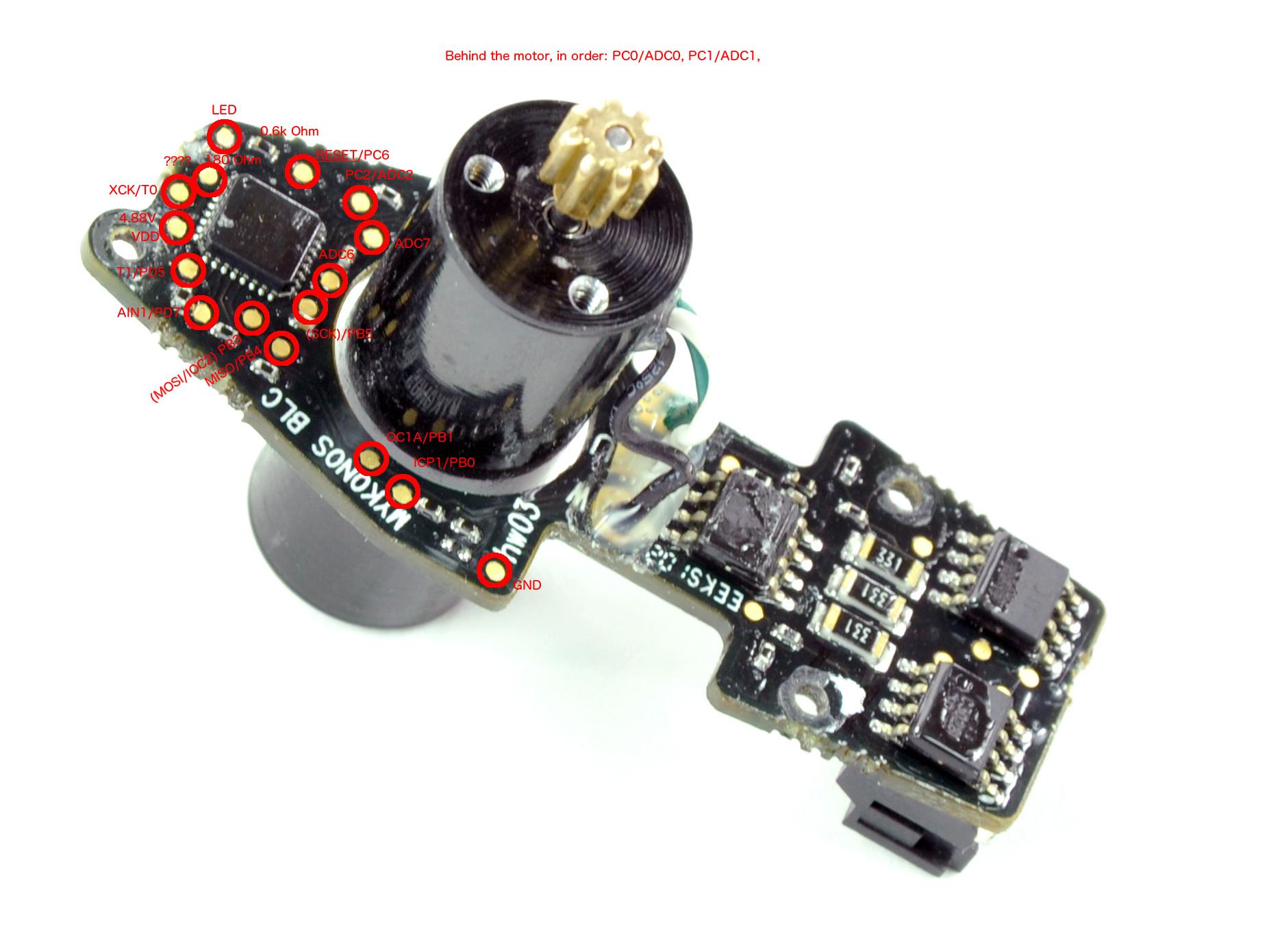 Drone motor pinout